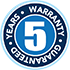 5 year warranty guarantee on Woollen products